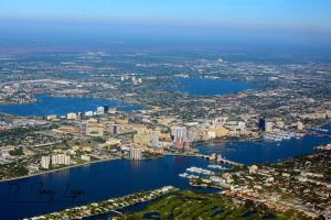 ariel view of west palm beach florida