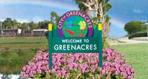 welcome sign of greenacres FL